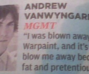 andrew vanwyngarden, rock, and MGMT image