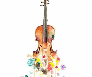 music, violin, and color image