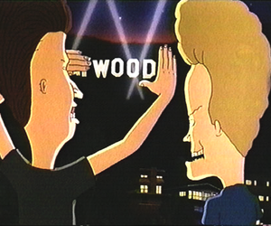 beavis and butthead, wood, and Beavis image