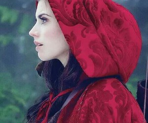 once upon a time, ruby, and red image