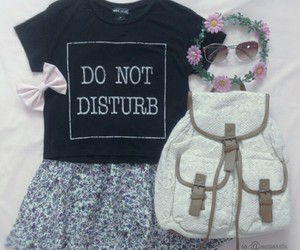 fashion, floral skirt, and girly image