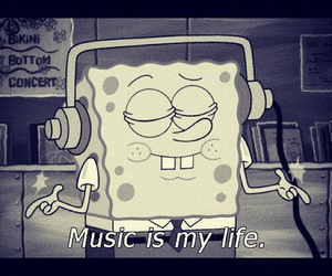 music, spongebob, and life image