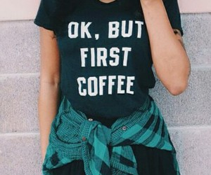 coffee, fashion, and flannel image