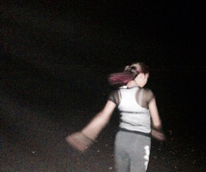 beach, daughter, and faded image