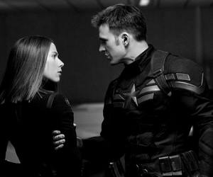 Marvel, black widow, and captain america image