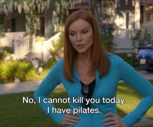 funny, pilates, and Desperate Housewives image