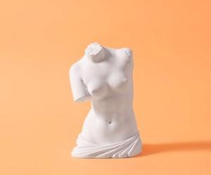 orange, sculpture, and art image