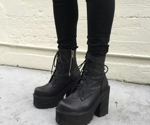 boots, black, and grunge image