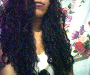 curly, hair, and lips image