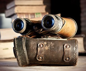 binoculars, case, and leather image