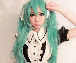 cosplay, kawaii, and maid image