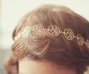 hair, accessories, and rose image