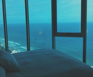 sea, ocean, and bed image