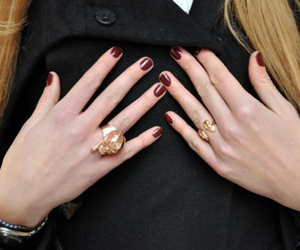 girl, nails, and red nails image