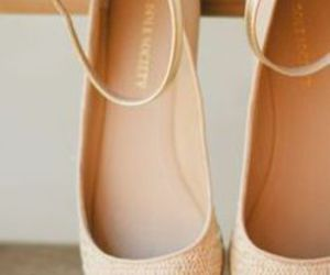shoes, beige, and flats image