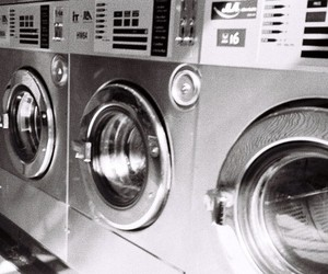 grunge, laundromat, and silver image
