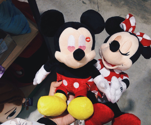disney, micky mouse, and minnie image