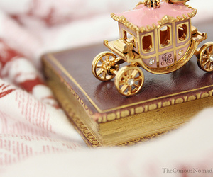 book, pink, and carriage image
