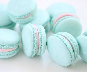 food, blue, and macaroons image
