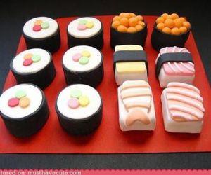 sushi, food, and sweet image