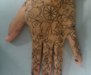 art, floral, and henna image