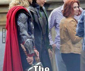 Avengers, loki, and funny image