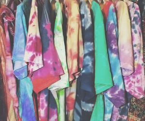 hipster, tie dye, and hippie image