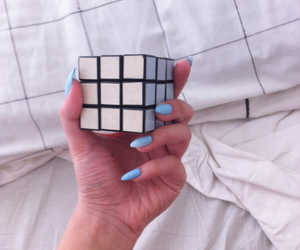 cube, grid, and grunge image