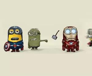 minions, Avengers, and iron man image