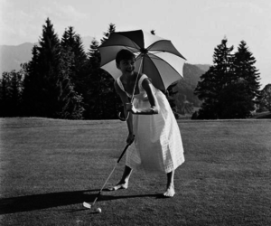 audrey hepburn, golf, and black and white image