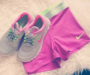 nike, pink, and fit image