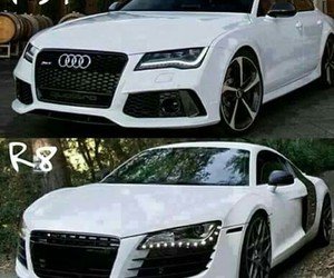car, r8, and white image