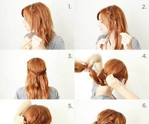 hair, hair tutorial, and hairstyle image