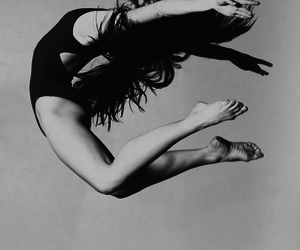 dance, jump, and black and white image