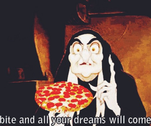 pizza, Dream, and snow white image