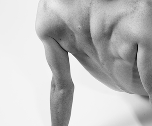 black and white, man, and musculine image