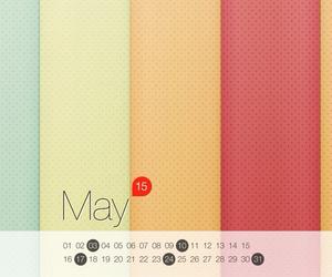 calendar, calendario, and colorful image