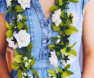 denim, flower, and rad image
