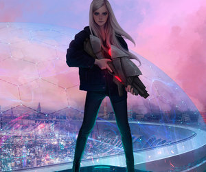 girl, art, and future image