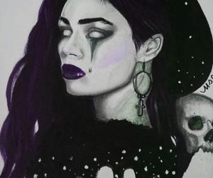 art, brunette, and dark image