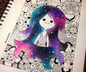 draw, marceline, and adventure time image