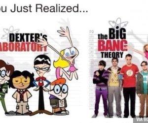 funny, big bang theory, and Dexter image