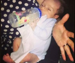baby, theo, and niall horan image