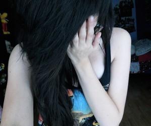 hair, girl, and scene image
