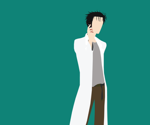 steins gate, anime, and minimalist image
