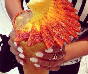 drink, fruit, and pineapple image