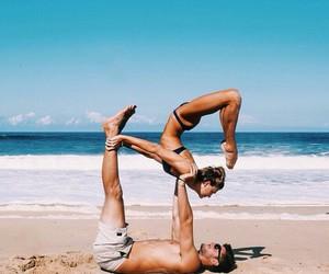 girl, love, and beach image