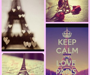 eiffel tower, French Kiss, and hearts image