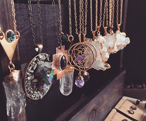 necklace, crystal, and hippie image