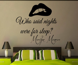 Marilyn Monroe, wall decals, and wall quotes image